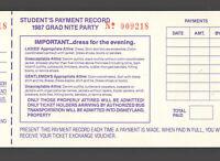 Disneyland Unused School Voucher for Ticket for 1987 Grad Nite Private Party