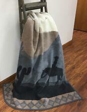 IBENA Country Western Woven Cotton Blend Throw Blanket 'Ride through the Desert'