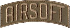 """Airsoft Embroidered Tab Shoulder Hook Morale Patch 3"""" x 1.25"""""""