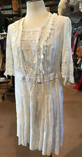 Vintage Edwardian Victorian Cream Lace Dress Teen/ Young Lady Stunner