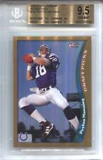 PEYTON MANNING BGS 9.5 1998 TOPPS CHROME FOOTBALL #165 REFRACTOR ROOKIE RC 6590