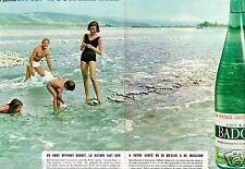 B- Publicité advertising 1963 (2 pages) Eau Minérale Gazeuse Badoit par Ronzel