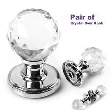 Large Crystal Glass Ball Door Knobs Internal Mortice Polished Chrome Door Handle