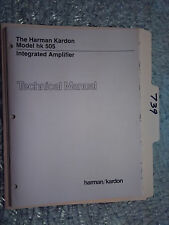 Harman Kardon hk505 hk 505 service manual original repair book stereo amp