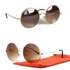 dc62dfbda06dfd Runde Sonnenbrille Groß Nickelbrille Oversized Modern Gold Braun Damen Q55  XL