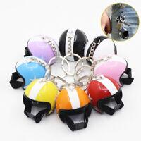 Creative Motorcycle Keyring Safety Hat Helmet Keychain Fashion Star Keyring Gift