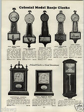 1931 PAPER AD Colonial Model Banjo Clock Normandy Chime 2 Rod Strike Pendulum
