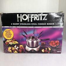 Hoffritz 2 Qt Stainless Steel Electric Fondue Maker Model HZFD2 - NEW