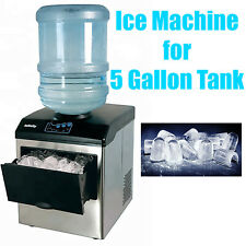 33 Lbs/Day Portable Table Top Ice Maker Making Machine for 5 Gallon Water Bottle