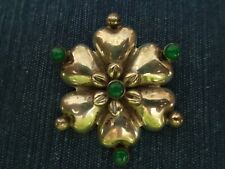 Vintage Mexican Sterling Silver Flower Pin