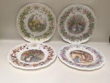 Royal Doulton Brambly Hedge 4 Seasons Afternoon Tea Side Plates Set of Four