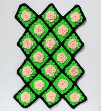 Grand napperon rétro kitsch vintage au crochet