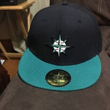 c83d04eda17 New Era Seattle Mariners Navy Aqua Game Diamond Era 59FIFTY Fitted Hat