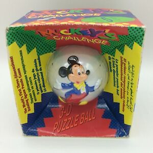 Retro Mickey's Challenge 3D Puzzle Ball Toy 1993 New in Packaging Unopened.
