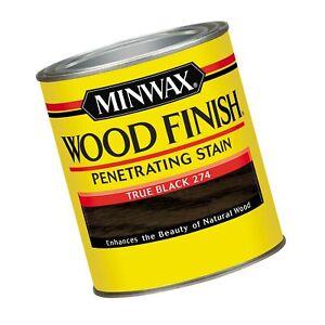 Minwax Wood Finish 227644444, 1/2 Pint, True Black