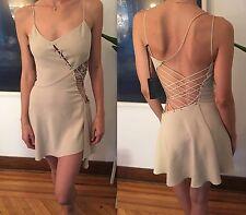 New VERSACE RUNWAY Cutout Deep Neckline Open Back Mini Dress 40 4 SEXY VERY RARE