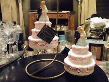 Set of POLONAISE BRIDE GROOM Christmas Ornaments Cake Top Wedding Kurt Adler