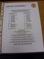 27/01/2014 Manchester United U21 v Manchester City U21 [à la vente requins] (unique