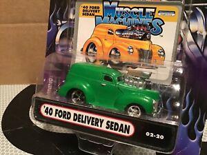 1 Muscle Machine '40 ford sedan Delivery green funline custom BLOWER 1:64 maisto