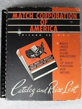 vintage Match Corporation of America Catalog over 300 real matchbooks 1950's era