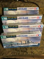 Lot of 4 Tamiya 1/700 31909 British Destroyer E Class Model Kit 2007 Sealed New