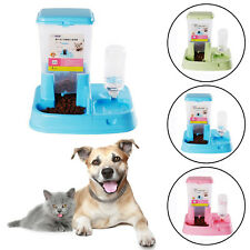2in1 Automatic Pet Dog Cat Rabbit Food Water Dispenser Dish Bowl Feeder Drink