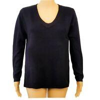 Pullover Damenpullover Pulli V-Ausschhnitt  schwarz M NEU B-Ware