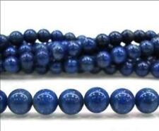 6mm Blue Egyptian Lapis Lazuli Gems Loose Bead 15'' LL003