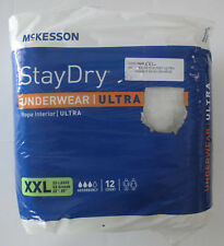 """McKesson Stay Dry Underwear Ultra Adult 12 Count XXL 68"""" - 80"""" Male or Female"""