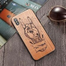 New Wooden Wood grain Style Hard PC Case Cover For iphone 6 S 7 8 Plus X 10