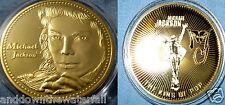 Michael Jackson Gold Coin Signed Soul Singer Legend Thriller Dancer Moon Walk US