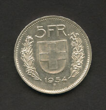 1954 - LOTTO/M15334 - SVIZZERA - 5 FRANCHI ARGENTO