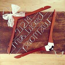 Personalized Wedding Hanger- (Embella Hangers) Bride & Groom Set