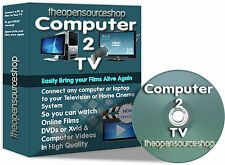 Connect PC / Laptop S-Video Port to Your TV Kit Contains All Cables & Software