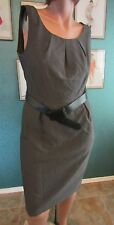 Calvin Klein NWT Sexy Charcoal Tailored Classy Clasic Sheath Secretary Dress,10