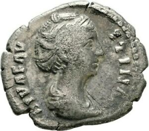LANZ ROMAN EMPIRE DIVA FAUSTINA DENARIUS ROME AETERNITAS SILVER §VVV1297