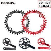 DECKAS 104bcd Narrow Wide MTB Bike Chainring Round/Oval 32-52t Single Chainwheel