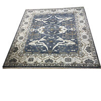 Hand Knotted wool rug Oushak d117