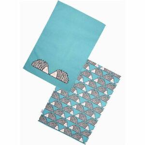 Scion Living Spike Set of 2 Tea Towels Teal
