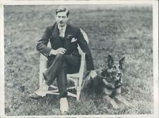 1928 Press Photo Prince Carol of Romania With His Dog