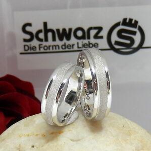 28.SCHWARZ Trauringe,Freundschaftsringe,Verlobungsringe 925 Silber RG 55+63 NEU%