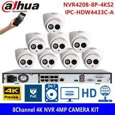 Dahua 8CH 8POE NVR 4MP POE IPC-HDW4433C-A CCTV Security Camera System Kit