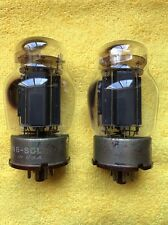 (2) Vintage Tung-Sol 6550 Solid Black Plate Vacuum Tube Pair TESTED