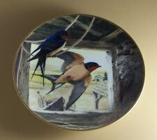 BARN SWALLOW RETURNING HOME  A. J. Rudisill Plate National Audubon Society Birds