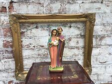 Vintage French Religious figure of The Holy Family.  Jesus Mary Joseph