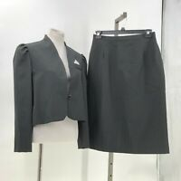la bene skirt suit set vintage Made in USA sz 17/18 pinstriped skirt blazer