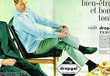 B- Publicité Advertising 1963 (2 pages) Costume Homme vetements Tergal Dropgal