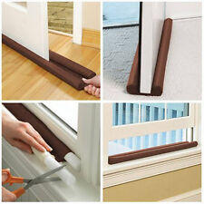 Twin Dual Double Draft Air Stopper Guard Door Window Draught Excluder Insulator
