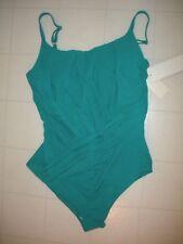 Gottex Emerald Green Landscape 1 PC Round Neck Style Swimsuit Sz 14