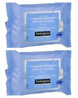 2 packs of 25x Neutrogena Make Up Remover Wipes Pads Cleansing Eye Facial Face